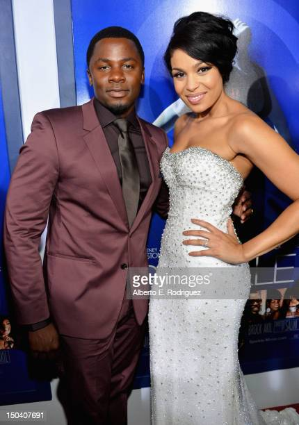 Actor Derek Luke and actress/singer Jordin Sparks arrive at the Los Angeles Premiere of 'Sparkle' at Grauman's Chinese Theatre on August 16 2012 in...