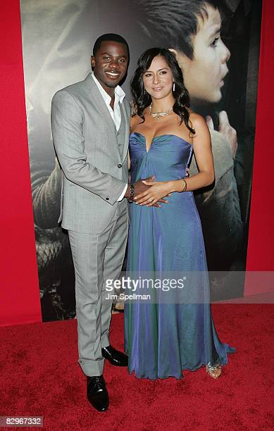 Actor Derek Luke and wife attend the premiere of Miracle at St Anna at Ziegfeld Theatre on September 22 2008 in New York City