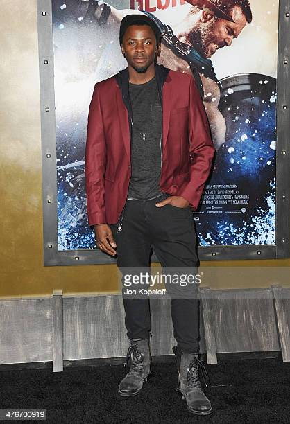Actor Derek Luke arrives at the Los Angeles Premiere '300 Rise Of An Empire' at TCL Chinese Theatre on March 4 2014 in Hollywood California