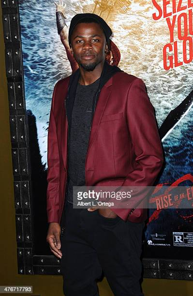 Actor Derek Luke arrives for the Premiere Of Warner Bros Pictures And Legendary Pictures' '300 Rise Of An Empire' held at TCL Chinese Theatre on...