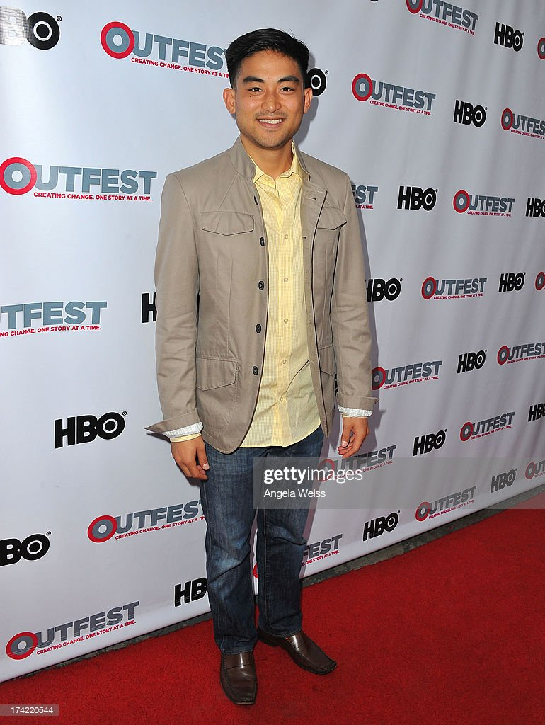 Actor Derek Mio arrives at the 2013 Outfest Film Festival closing night gala of 'G.B.F.' at the Ford Theatre on July 21, 2013 in Hollywood, California.