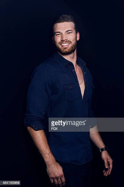 Actor Derek Theler is photographed at the Fox 2014 Teen Choice Awards at The Shrine Auditorium on August 10 2014 in Los Angeles California