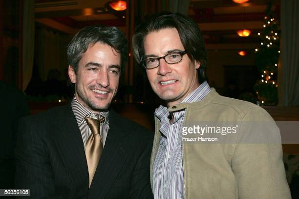 """Actor Dermot Mulroney and actor Kyle MacLachlanattend the after party of the world premiere of Twentieth Century Fox's film """"The Family Stone"""" at the..."""
