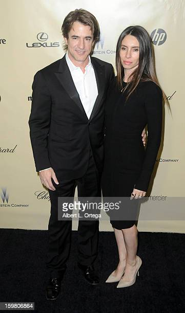 Actor Dermot Mulroney and actress Tharita Catulle arrive for the Weinstein Company's 2013 Golden Globe Awards After Party Arrivals on January 13 2013...