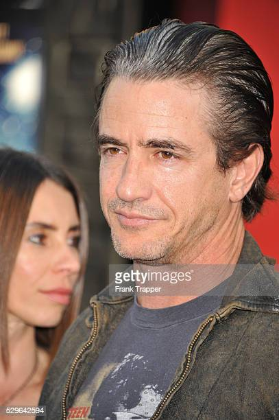 Actor Dermot Mulroney and guest arrive at the world premiere of Rock of Ages held at Grauman's Chinese Theater in Hollywood