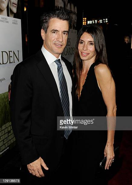 Actor Dermot Mulroney and his wife Tharita Catulle arrive at the premiere of Fireflies in the Garden at The Grove on October 12 2011 in Los Angeles...