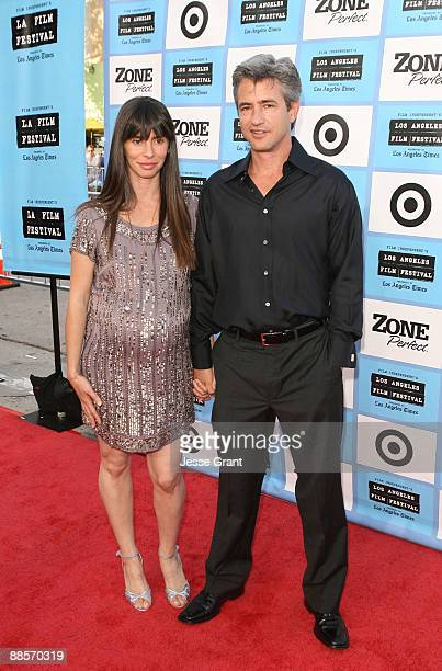 Actor Dermot Mulroney and Tharita Catulle arrive at the 2009 Los Angeles Film Festival's Opening Night Premiere of Paper Man held at the Mann Village...