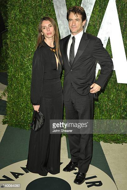 Actor Dermot Mulroney and Tharita Catulle arrive at the 2012 Vanity Fair Oscar Party hosted by Graydon Carter at Sunset Tower on February 26 2012 in...
