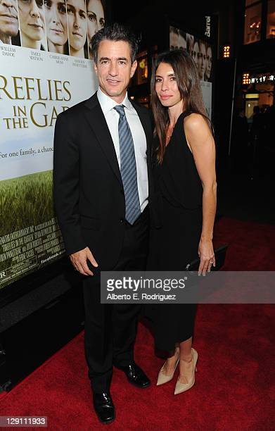 Actor Dermot Mulroney and Tharita Catulle arrive at the Fireflies In The Garden Premiere at Pacific Theaters at the Grove on October 12 2011 in Los...