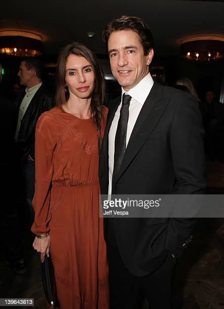 Actor Dermot Mulroney and Tharita Catulle attend the GREY GOOSE/RADD/Paramount preOscars party at Soho House on February 23 2012 in West Hollywood...