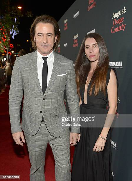 Actor Dermot Mulroney and Tharita Catulle attend the LA premiere Of August Osage County presented by The Weinstein Company in partnership with...