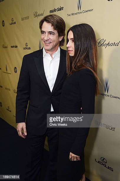 Actor Dermot Mulroney and Tharita Catulle attend The Weinstein Company's 2013 Golden Globe Awards after party presented by Chopard HP Laura Mercier...