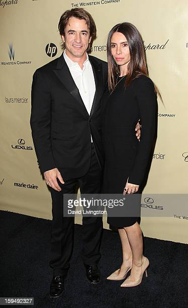 Actor Dermot Mulroney and Tharita Catulle attend The Weinstein Company's 2013 Golden Globe Awards After Party at The Beverly Hilton hotel on January...