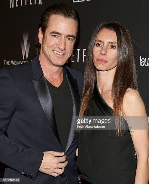Actor Dermot Mulroney and Tharita Catulle attend The Weinstein Company Netflix's 2014 Golden Globes After Party presented by Bombardier FIJI Water...