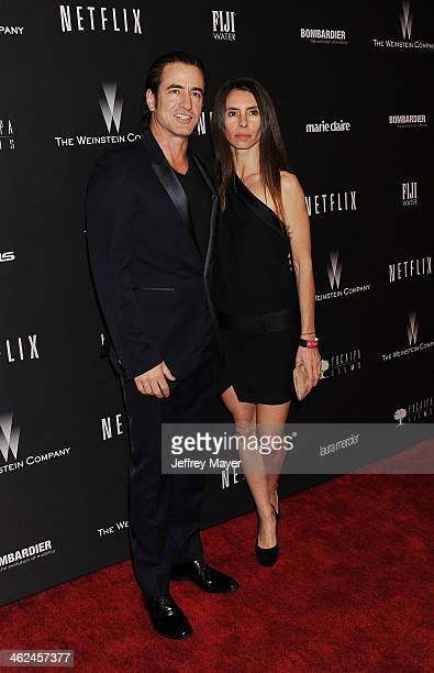 Actor Dermot Mulroney and Tharita Catulle attend The Weinstein Company Netflix 2014 Golden Globes After Party held at The Beverly Hilton Hotel on...