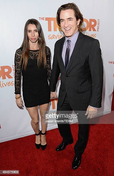 Actor Dermot Mulroney and Tharita Catulle attend TrevorLIVE LA honoring Jane Lynch and Toyota for the Trevor Project at Hollywood Palladium on...