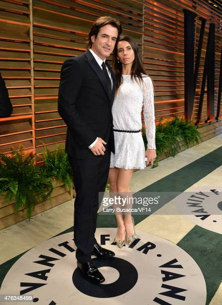 Actor Dermot Mulroney and Tharita Cesaroni attend the 2014 Vanity Fair Oscar Party Hosted By Graydon Carter on March 2 2014 in West Hollywood...