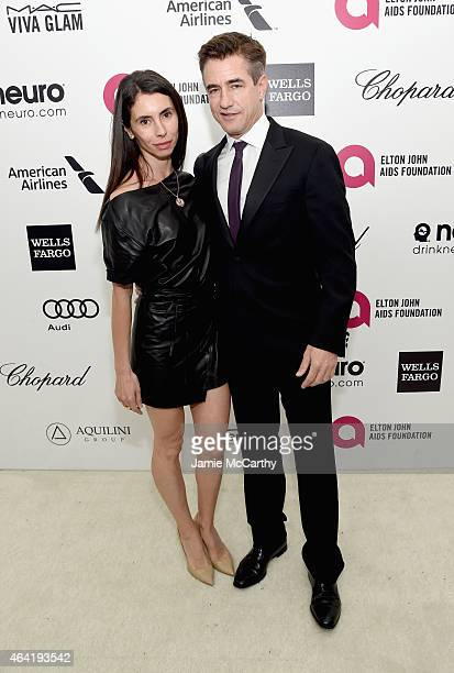 Actor Dermot Mulroney and Tharita Cesaroni attend the 23rd Annual Elton John AIDS Foundation Academy Awards Viewing Party on February 22 2015 in Los...