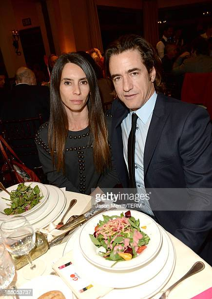Actor Dermot Mulroney and wife Tharita Catulle attend the 6th Annual GO GO Gala at Bel Air Bay Club on November 14 2013 in Pacific Palisades...