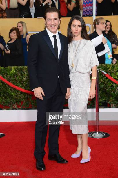 Actor Dermot Mulroney and wife Tharita Cesaroni attend the 20th Annual Screen Actors Guild Awards at The Shrine Auditorium on January 18 2014 in Los...