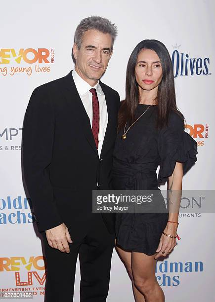 Actor Dermot Mulroney and wife/cinematography agent Tharita Cesaroni attend the TrevorLIVE Los Angeles 2016 Fundraiser at the Beverly Hilton Hotel on...