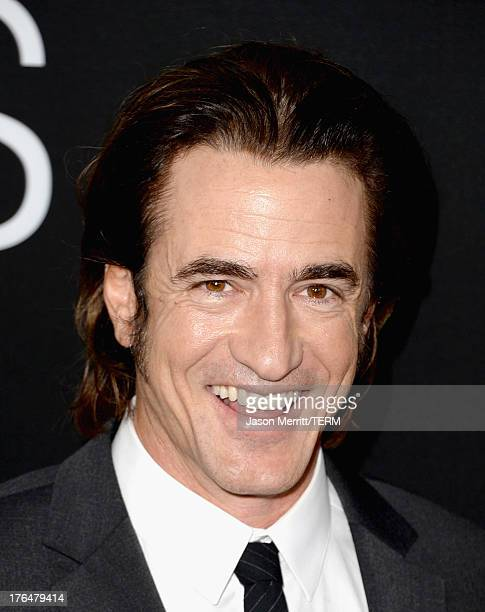 """Actor Dermot Mulroney arrives at the screening of Open Road Films and Five Star Feature Films' """"Jobs"""" at Regal Cinemas L.A. Live on August 13, 2013..."""
