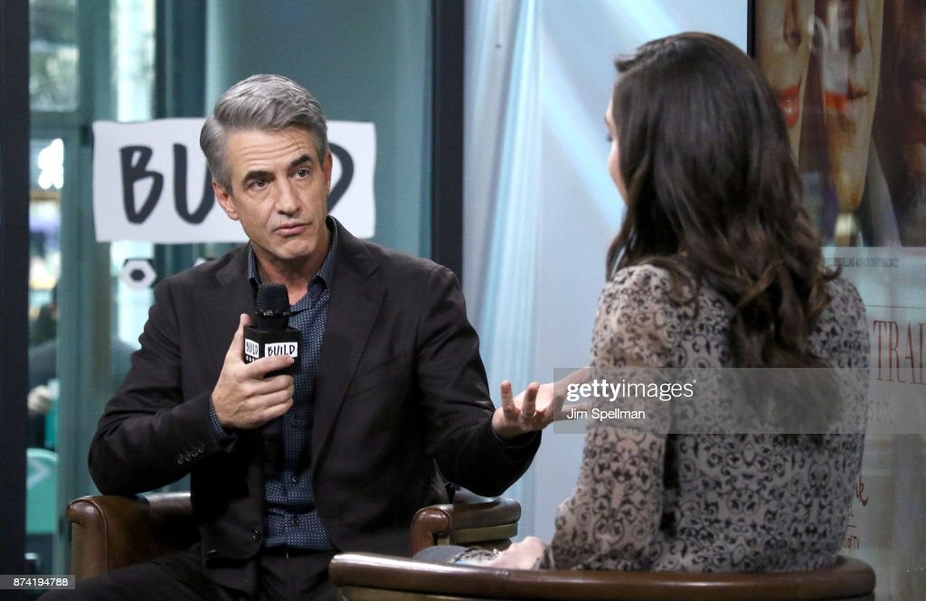 Actor Dermot Mulroney (L) attends Build to Discuss 'The Christmas Train' at Build Studio on November 14, 2017 in New York City.