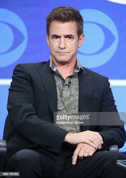 Actor Dermot Mulroney speaks onstage at the 'Pure Genius' panel discussion during the CBS portion of the 2016 Television Critics Association Summer...