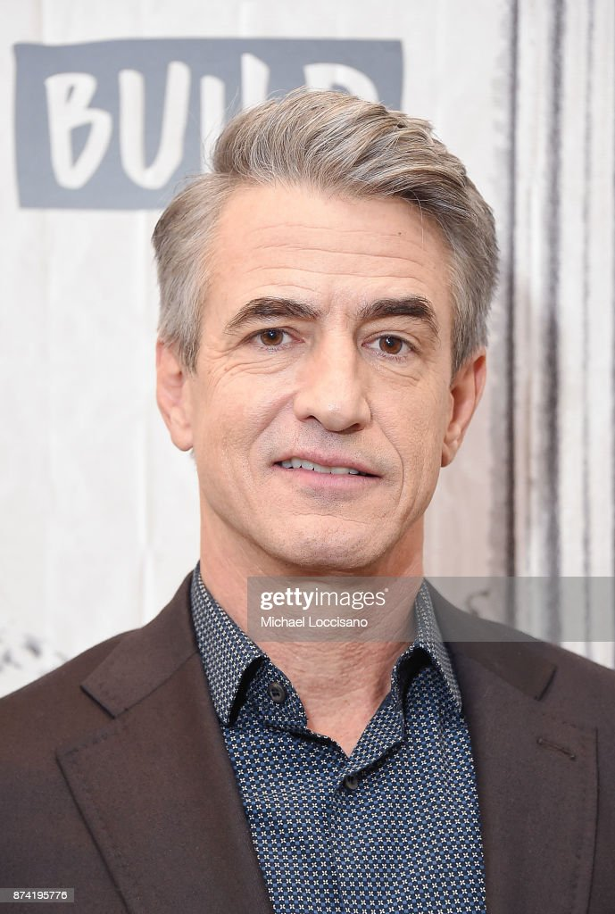 Actor Dermot Mulroney visits Build Studio to discuss his movie 'The Christmas Train' on November 14, 2017 in New York City.
