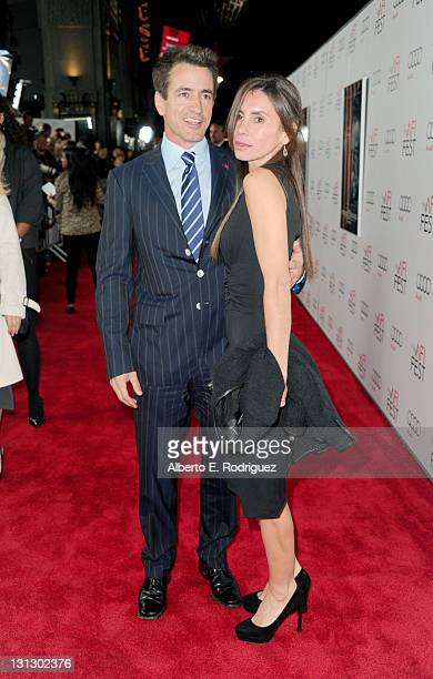 Actor Dermot Mulroney with his wife Tharita Catulle arrive at the J Edgar opening night gala during AFI FEST 2011 presented by Audi held at Grauman's...