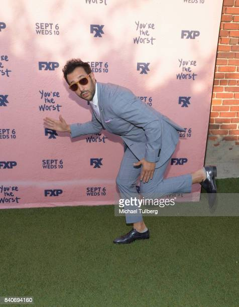 Actor Desmin Borges attends the premiere of Season 4 of FXX's You're The Worst at Museum of Ice Cream LA on August 29 2017 in Los Angeles California