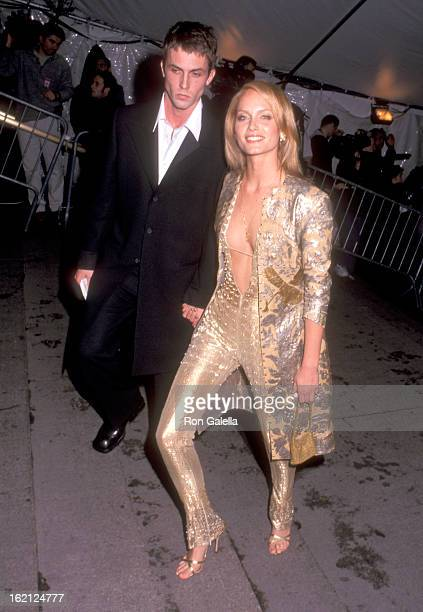 Actor Desmond Harrington and Model Amber Valletta attend The Metropolitan Museum's Costume Institute Gala Exhibition of Rock Style on December 6 1999...