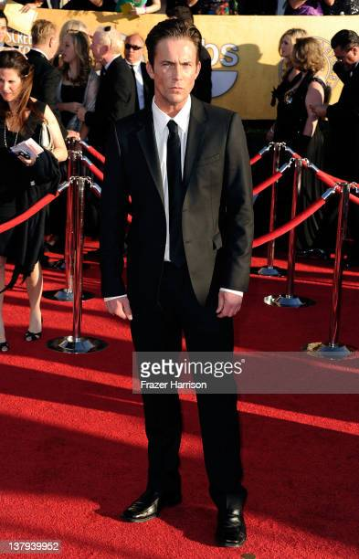 Actor Desmond Harrington arrives at the 18th Annual Screen Actors Guild Awards at The Shrine Auditorium on January 29 2012 in Los Angeles California