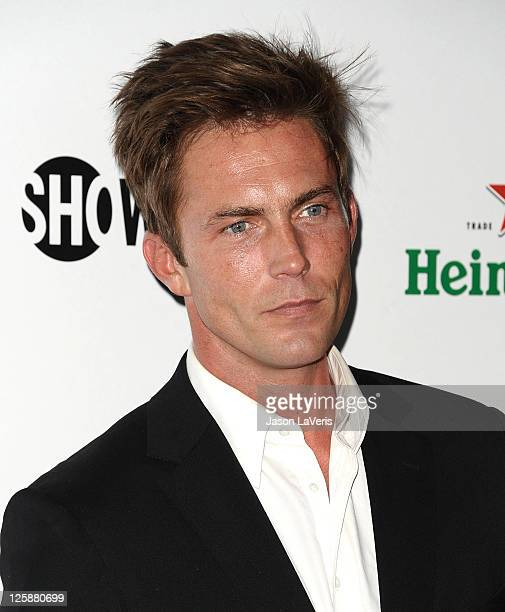 Actor Desmond Harrington attends Showtime's 2011 Emmy nominee celebration at SkyBar at the Mondrian Los Angeles on September 17 2011 in West...