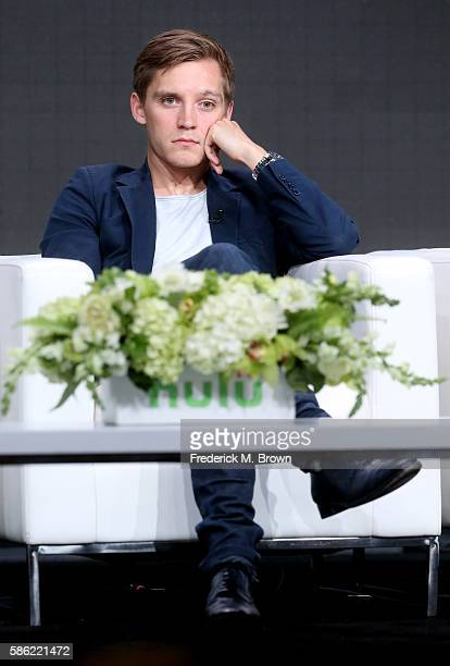 Actor 'Deutschland 83' Jonas Nay speaks onstage at the 'International Intrigue' panel discussion during the Hulu portion of the 2016 Television...