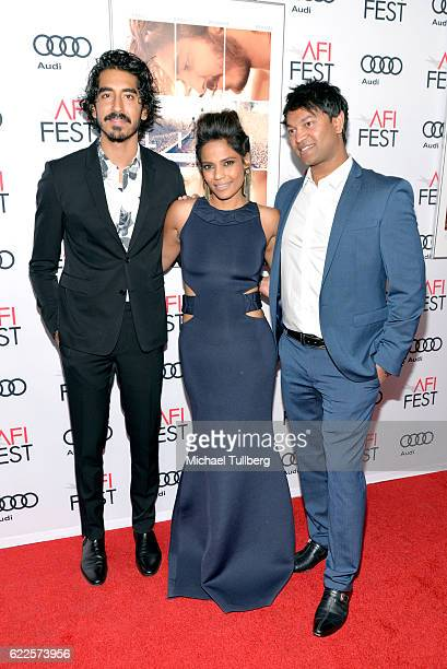 Actor Dev Patel actress Priyanka Bose and author Saroo Brierley attend the premiere of The Weinstein Company's 'Lion' at AFI Fest 2016 presented by...