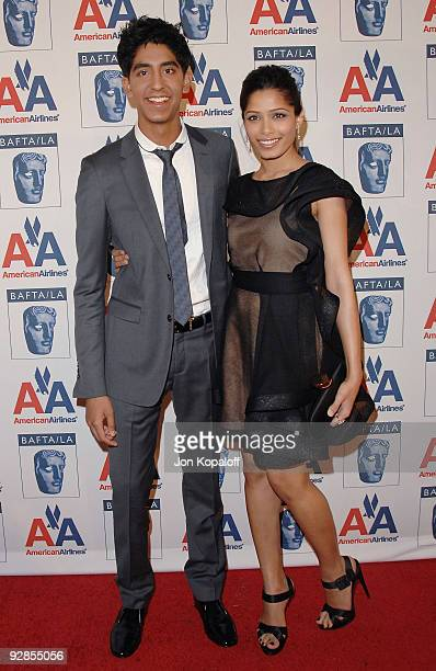 Actor Dev Patel and actress Freida Pinto arrive at the 18th Annual BAFTA/LA Britannia Awards at Hyatt Regency Century Plaza on November 5, 2009 in...