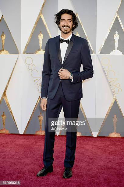 Actor Dev Patel attends the 88th Annual Academy Awards at Hollywood Highland Center on February 28 2016 in Hollywood California