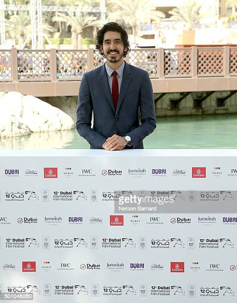 Actor Dev Patel attends 'The Man Who Knew Infinity' photocall during day four of the 12th annual Dubai International Film Festival held at the...