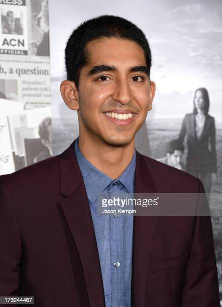 Actor Dev Patel attends the premiere of HBO's The Newsroom Season 2 at Paramount Theater on the Paramount Studios lot on July 10 2013 in Hollywood...