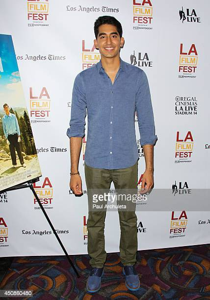 Actor Dev Patel attends the premiere of 'The Road Within' at the 2014 Los Angeles Film Festival at Regal Cinemas LA Live on June 18 2014 in Los...