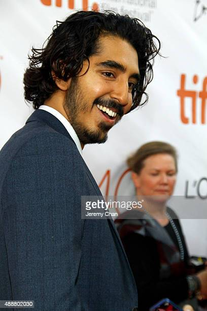 """Actor Dev Patel attends the """"The Man Who Knew Infinity"""" premiere during the 2015 Toronto International Film Festival at Roy Thomson Hall on September..."""