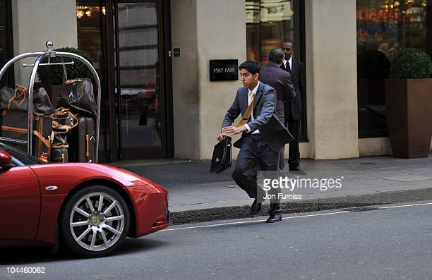 Actor Dev Patel films a scene on 'The Commuter' a short film shot in HD on the new Nokia N8 camera phone