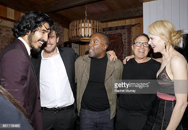 Actor Dev Patel LION Director Garth Davis host Lee Daniels host David O'Russell and actress Nicole Kidman attend a special screening and reception of...