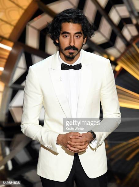 Actor Dev Patel speaks onstage during the 89th Annual Academy Awards at Hollywood Highland Center on February 26 2017 in Hollywood California