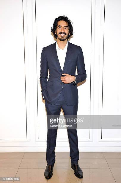 Actor Dev Patel wearing Burberry at Burberry and The Weinstein Company honour Dev Patel and his performance in Lion on November 30 2016 in Beverly...