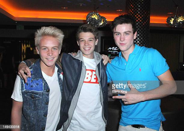 Actor Devin Fox actor Colin Ford and actor Sterling Beaumon attend Sterling Beaumon's Summer Bash on July 27 2012 in Hollywood California