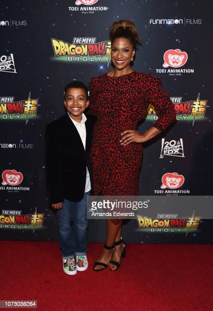 Actor Devin Trey Campbell and actress Kimrie Lewis arrive at Funimation Films' Premiere of Dragon Ball Super Broly at the TCL Chinese Theatre on...