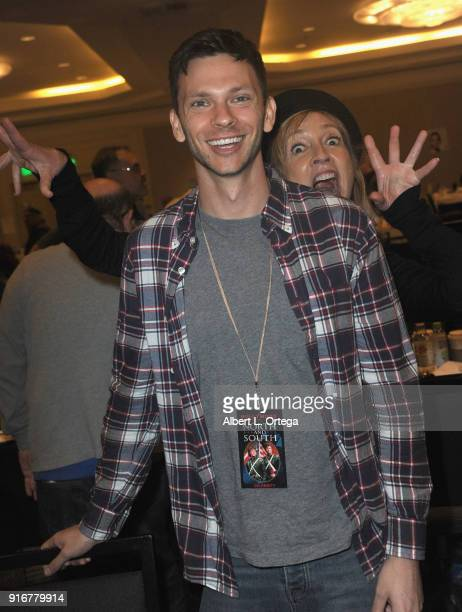 Actor Devon Graye and actress Corinne Bohrer attend The Hollywood Show held at Westin LAX Hotel on February 10 2018 in Los Angeles California