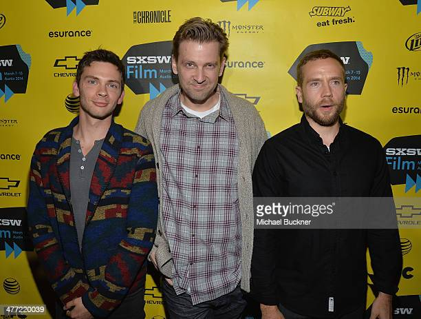 Actor Devon Graye director Daniel Stamm and actor Mark Webber attend the premiere of 13 Sins during the 2014 SXSW Music Film Interactive Festival at...